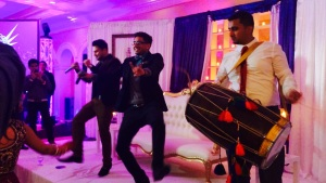 Mickey Singh and Sandhu performing