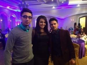 With Sandhu (left) and Mickey Singh (right)