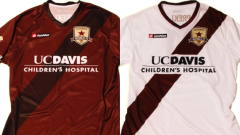 Sacramento Republic home and away game jerseys