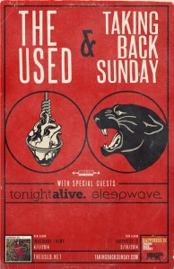 The Used are on tour with Taking Back Sunday until the end of April