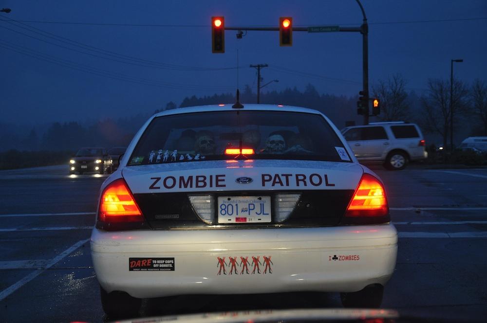 Zombie patrol car