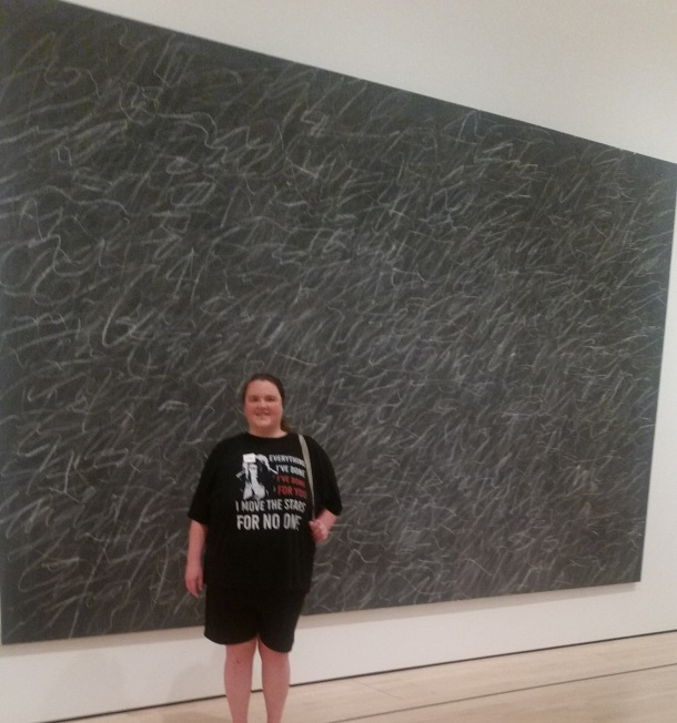 Me Next to a $1 Billion dollar art piece